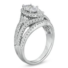 1-3/4 CT. T.W. Marquise Diamond Engagement Ring in 14K White Gold - Zales
