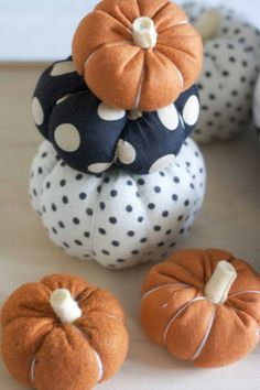 More fabric pumpkins