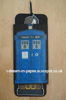 child's Dr Who card with sliding mechanism