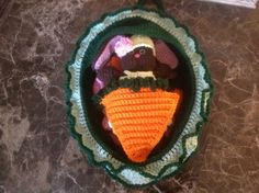 Little Brown Bunny& Cabbage Bassinet/Purse crochet by Unique2who on Etsy, $40.00