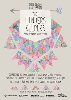 Finders Keepers Sydney SS2012 Poster