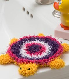 Turtle Bath Crochet Scrubby | FREE Crochet Patterns | Turtle Crochet