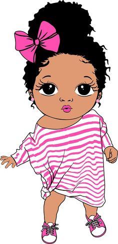 Black Girl Cartoon, Black Girl Art, Black Women Art, Art Girl, Cute Baby Drawings, Drawings Of Black Girls, Owl Tattoo Drawings, Cartoon Drawings, Baby Clip Art