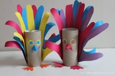 paper roll peacock craft for party Preschool Crafts, Diy And Crafts, Craft Projects, Crafts For Kids, Arts And Crafts, Cardboard Tube Crafts, Toilet Paper Roll Crafts, Thanksgiving Crafts, Fall Crafts
