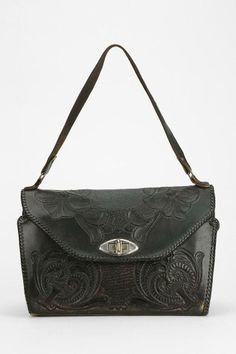 Vintage Tooled Leather Bag #urbanoutfitters