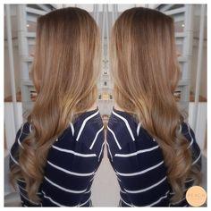 Balayage i brunt hår