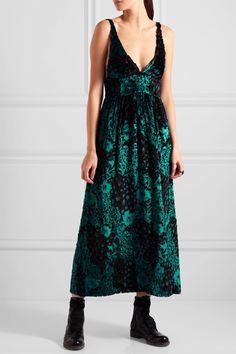 Etro Flocked Tulle Midi Dress