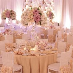 Blush wedding reception tablescape  #Blush / Pink Wedding Reception ... Wedding ideas for brides, grooms, parents & planners ... https://itunes.apple.com/us/app/the-gold-wedding-planner/id498112599?ls=1=8 … plus how to organise an entire wedding ♥ The Gold Wedding Planner iPhone App ♥
