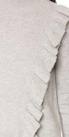 Rebecca Taylor Diagonal Ruffle Sweater | SHOPBOP