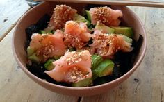Sushi in a bowl