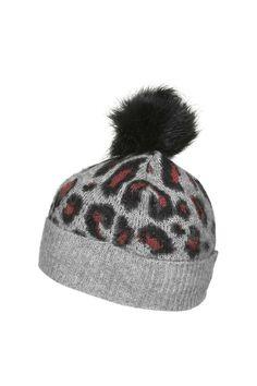 Photo 1 of Leopard Knit Beanie Hat