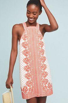 Natalie Embroidered Shift Dress