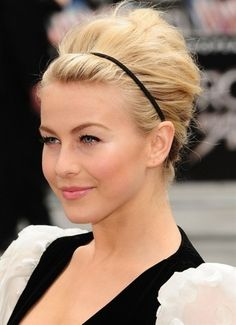 Julianne Hough Hairstyles 2013: Formal Updos for Medium Hair