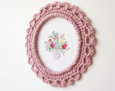 Ornate Crocheted Picture Frame Pattern by JaKiGu