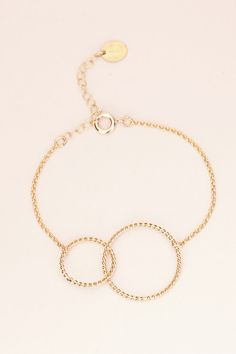 Bracelet doré torsadé 2 cercles Elizabeth - Médecine Douce