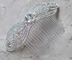 Timeless and Elegant Vintage Inspired Rhinestone Hair Comb JM-JT384 $108.00/each