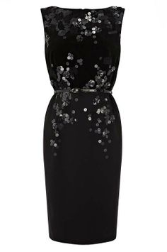 Sleeveless dresses with sequins