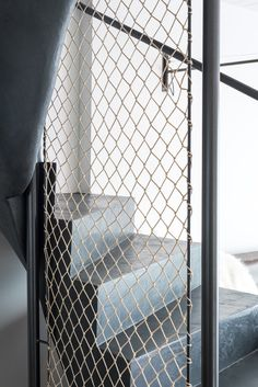 OOOOX | PLZEN - railing made from cotton net and steel frame