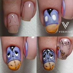 Photo Nail Art Hacks, Gel Nail Art, Acrylic Nails, Nail Polish, Nail Art Dessin, Manicure Pictures, Bright Red Nails, Disney Nails, Types Of Nails