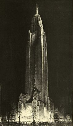 Ask me to name the precursors of Dieselpunk and Hugh Ferriss will be one of the first names on my list. Architecture Drawings, Gothic Architecture, Futuristic Architecture, Classical Architecture, Architecture Design, Architecture Blueprints, Paper Architecture, Best Architects, Art Deco Buildings