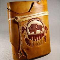 Customize Leather Journal, Native American Journal, Handmade Journal,... (530 BRL) ❤ liked on Polyvore featuring home, home decor and stationery