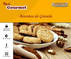 Simples e fácil de fazer, o biscoito de granola é uma receita de lanche saudável para comer entre as refeições.