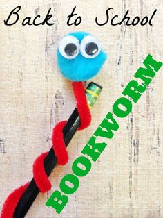 adorable back to school bookworm pencil topper craft for kids