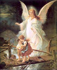 Ángel de mi Guarda, mi dulce compañía, no me desampares ni de noche ni de día; no me dejes solo, que me perdería.  first prayer my mom taught each of her kids...