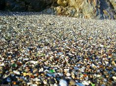 An eyeful: Now the beach is covered with stone-sized pieces of sea glass, coloring the seascape and adding a tourist element to the natural beauty of the spot