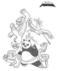 coloring page Kung Fu Panda - Kung Fu Panda