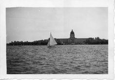 Sailboat on the Wascana River | saskhistoryonline.ca