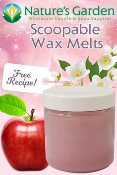 Free Scoopable Wax Melts Recipe by Natures Garden