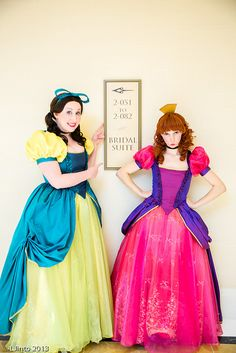 (not so) ugly step sisters. Would be cute running costumes. Bridal Suite? Cinderella, Katsucon 2013 by LJinto, via Flickr