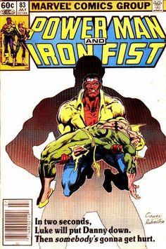 Power Man and Iron Fist Vol 1 83 Marvel Comics Superheroes, Marvel Comic Books, Comic Book Characters, Marvel Characters, Iron Fist Powers, Iron Fist Comic, Luke Cage Iron Fist, La Pieta, Power Man