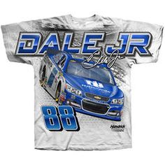 Men's Dale Earnhardt Jr. Hendrick Motorsports Team Collection White Total Print T-Shirt. NASCAR Superstore. Great for Father's Day!
