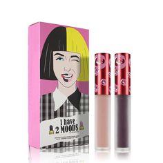 Matte Liquid Lipstick Non Stick Cup Waterproof Moisturizer Velvet Batom Mate Lip Color Makeup Lip Gloss Maquiagem Set of 2