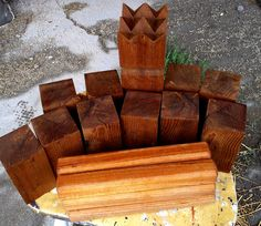Instructables How to Make a Kubb Set.  Game of Vikings
