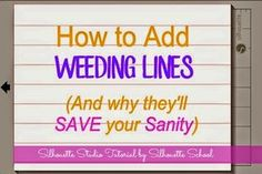 weeding lines are an easy way to prevent you from ruining your vinyl! Such a great silhouette hack!