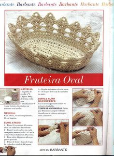 beautiful basket of bread in crochet. cute. - Crochet Designs Free