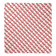 Red Sketchy Hearts Design Bandana