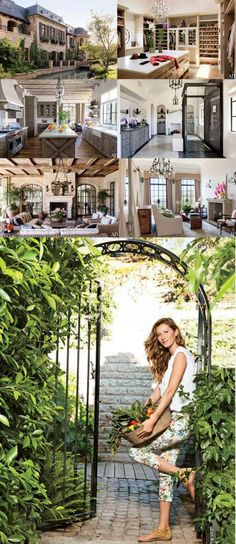Gisele Bundchen and Tom Brady debuted their mansion in Architectural Digest. Now, she understood how to make it a home! Gisele Bundchen, Future House, My House, Hollywood Homes, Rich Home, Celebrity Houses, My Dream Home, Dream Homes, Architectural Digest