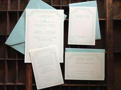 The Great Gatsby Wedding Invitation Set