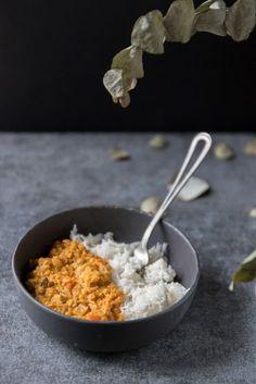 Coral lentil dahl (vegan) - My spinach gougères - recette végé - Vegetarian Recipes Clean Chicken Recipes, Healthy Recipes On A Budget, Vegetarian Recipes Dinner, Healthy Breakfast Recipes, Healthy Snacks, Dinner Recipes, Dinner Healthy, Quick Recipes, Popular Recipes