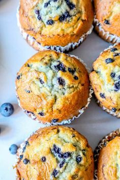 The Best Easy Jumbo Blueberry Muffins Recipe - breakfastYou can find Breakfast and more on our website.The Best Easy Jumbo Blueberry Muffins Recipe - breakfast Jumbo Blueberry Muffin Recipe, Homemade Blueberry Muffins, Simple Muffin Recipe, Jumbo Muffins, Frozen Blueberry Recipes, Easy Blueberry Desserts, Best Muffin Recipe, Gluten Free Blueberry Muffins, Recipes With Frozen Blueberries