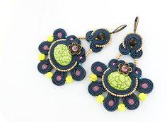 Colorful dangle earrings soutache earrings fashion by pUkke