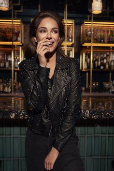 IBANA FW 2018 Campaign Leather Jacket, Blazer, Campaign, Jackets, Outfits, Fashion, Studded Leather Jacket, Down Jackets, Moda