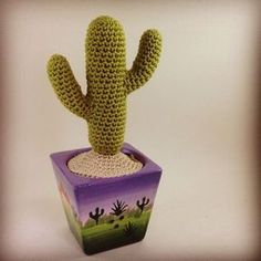 This cute little crochet cactus pattern is completely free and can be whipped up in a couple of hours. Give as a gift or brighten up your desk