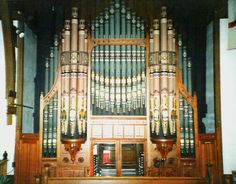 Tracker organ built by the Peter Conacher Co. Ltd. of Huddersfield, England.