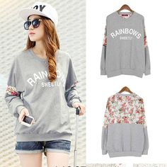 Floral Sweatshirt in many sizes! :) Material	Cotton Blend+Lace Please Check Size Chart before buying. Tracking costs an additional $2. :)