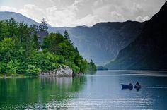 Lake Bohinj, Slovenia (by Gilles 1972)